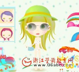 幼儿园益智游戏FLASH:打扮可爱小女孩