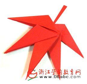 幼儿园手工折纸:简单漂亮的枫叶