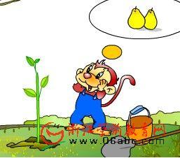 儿童故事FLASH欣赏:猴子种果树
