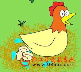 儿童科谱知识FLASH欣赏:小鸡是怎样长大的