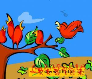 儿童歌曲FLASH欣赏:四只小小鸟