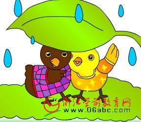 童话小故事FLASH在线欣赏:小黄鸡和小黑鸡
