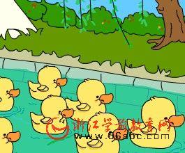 儿童歌曲FLASH欣赏:数鸭子