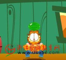 儿童益智游戏flash:加菲猫鸡场打工