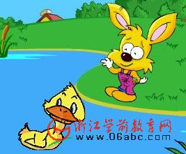 幼儿园故事课件:小鸭找朋友