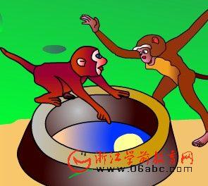 故事课件:猴子捞月亮