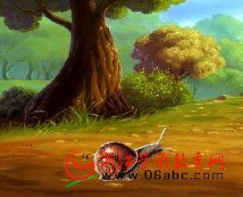 故事课件:蜗牛画树