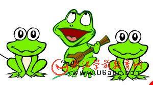 儿童歌谣FLASH欣赏:五只小青蛙